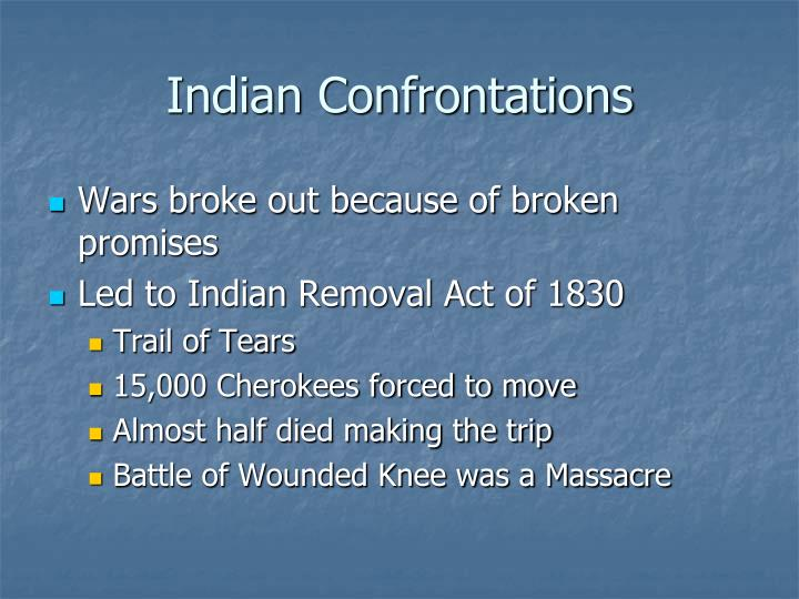 Indian Confrontations