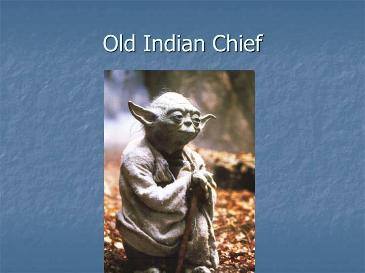 Old Indian Chief