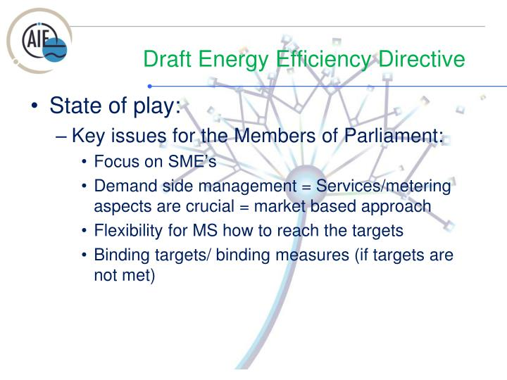 Draft energy efficiency directive1