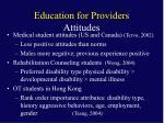 education for providers attitudes1