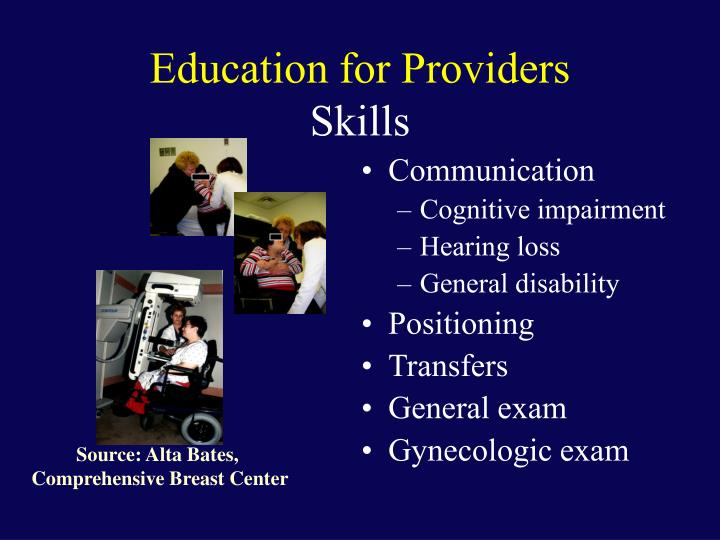 Education for Providers