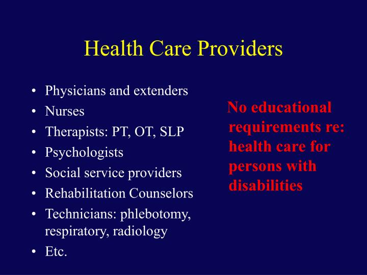 Physicians and extenders