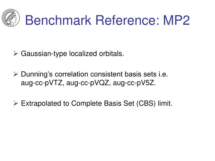 Benchmark Reference: MP2