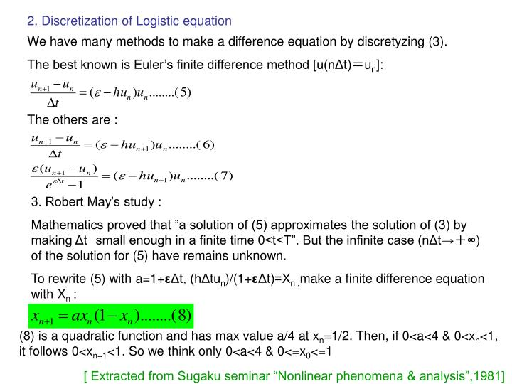 2. Discretization of Logistic equation
