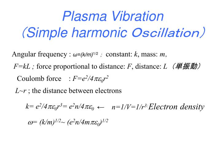 Plasma Vibration