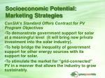 socioeconomic potential marketing strategies