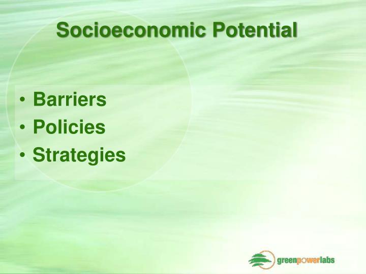 Socioeconomic Potential