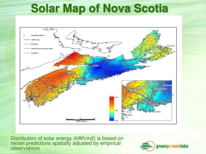 Solar Map of Nova Scotia