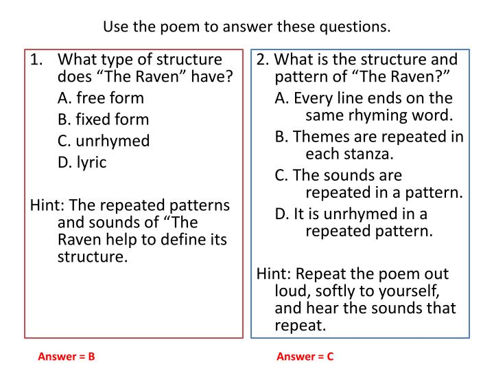Use the poem to answer these questions.