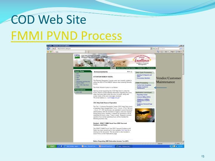 COD Web Site