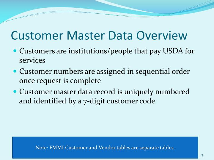 Customer Master Data Overview