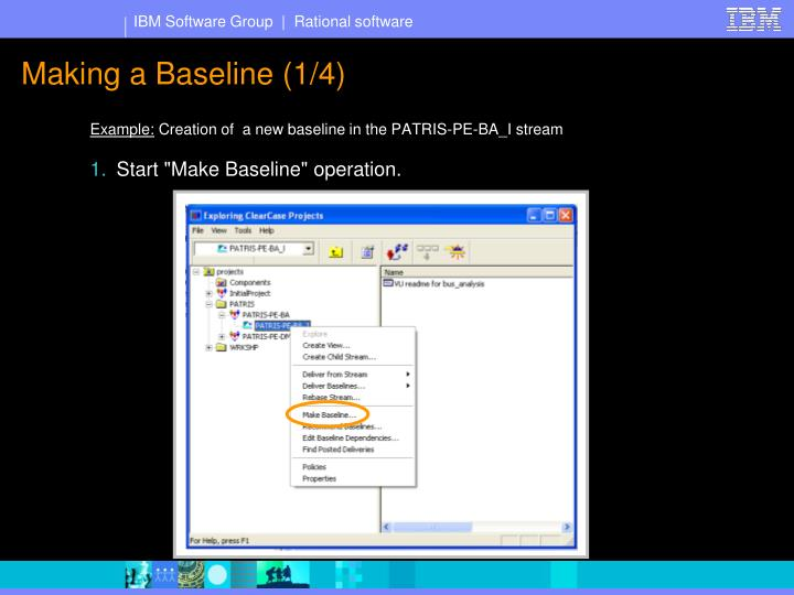 Making a Baseline (1/4)