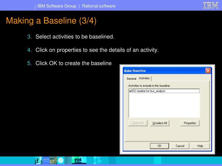 Making a Baseline (3/4)