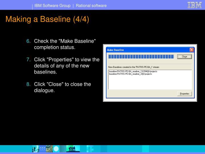 Making a Baseline (4/4)