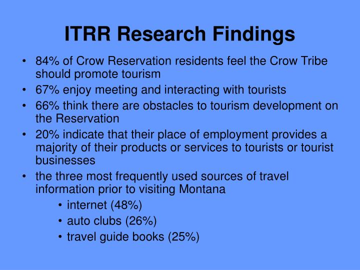 ITRR Research Findings