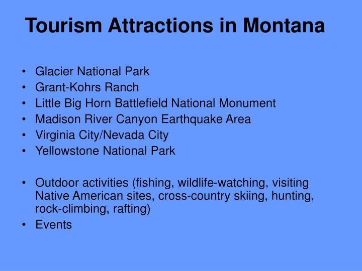 Tourism Attractions in Montana
