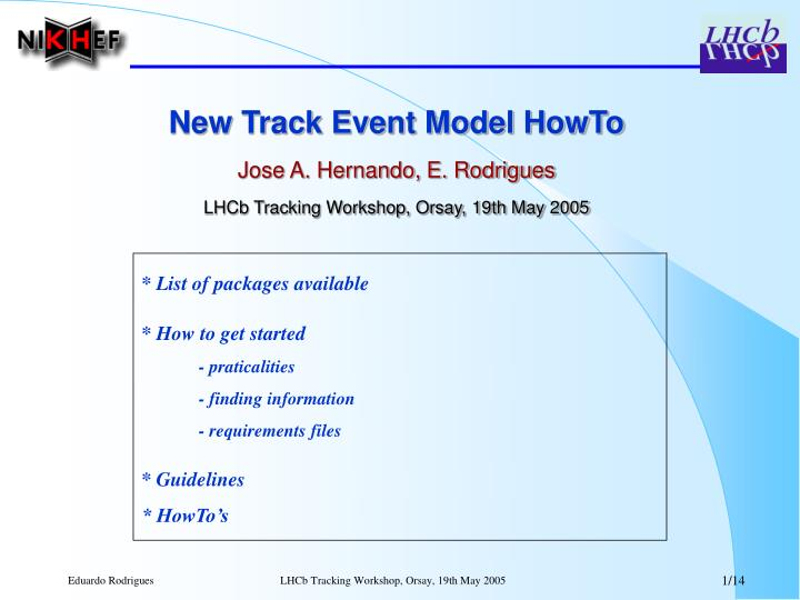 New Track Event Model HowTo