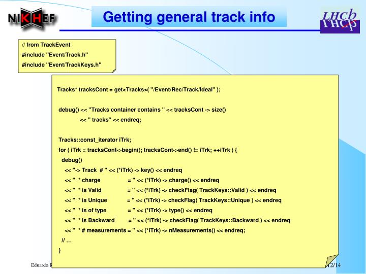 Getting general track info