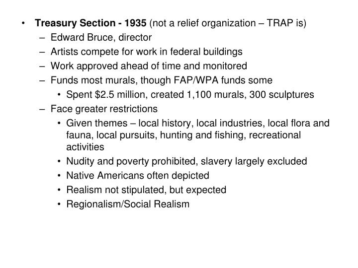 Treasury Section - 1935