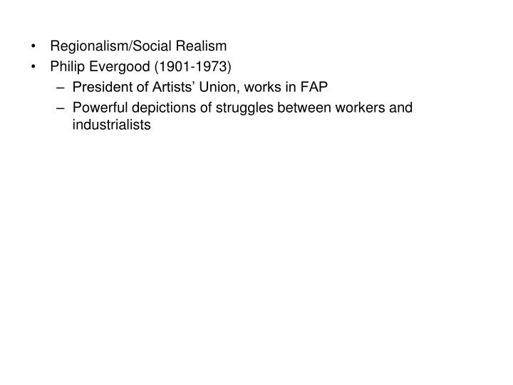 Regionalism/Social Realism