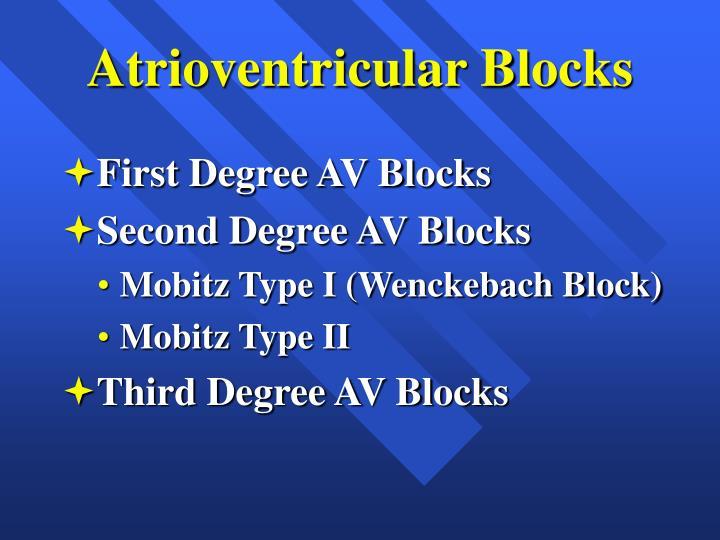 Atrioventricular Blocks