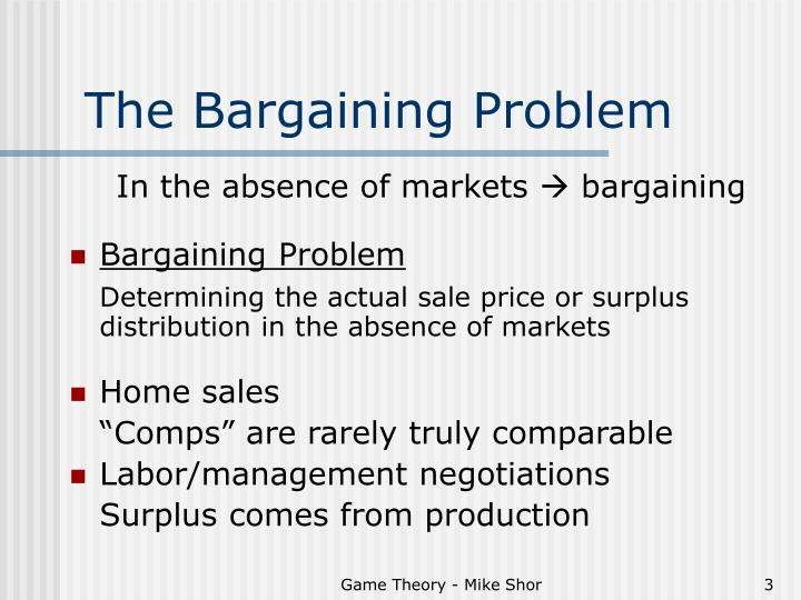 The Bargaining Problem