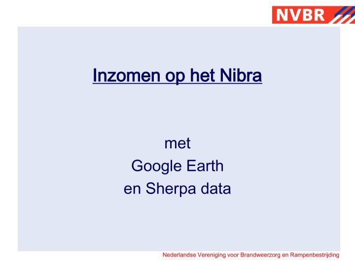 Inzomen op het Nibra