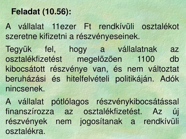 Feladat (10.56):