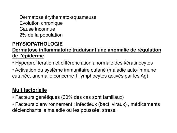 Dermatose érythemato-squameuse