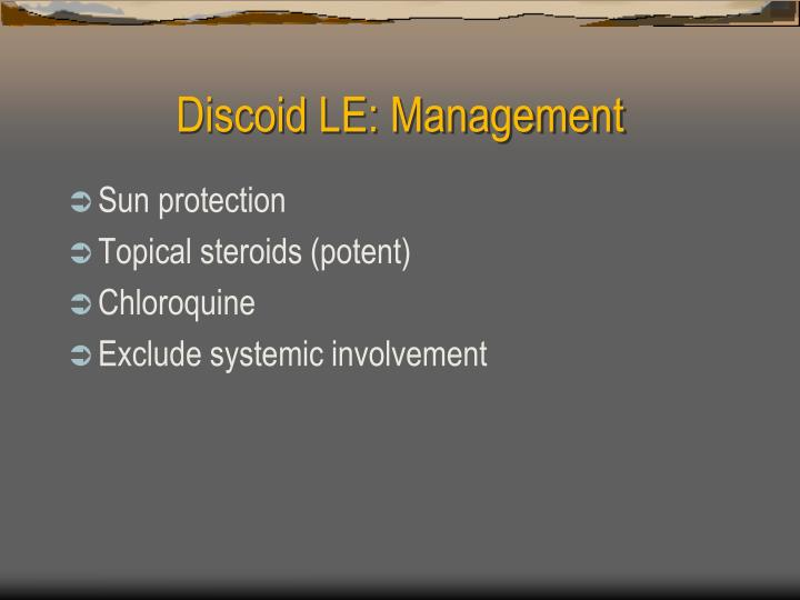 Discoid LE: Management