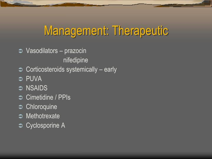 Management: Therapeutic