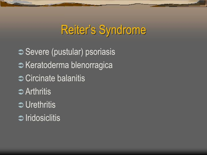 Reiter's Syndrome
