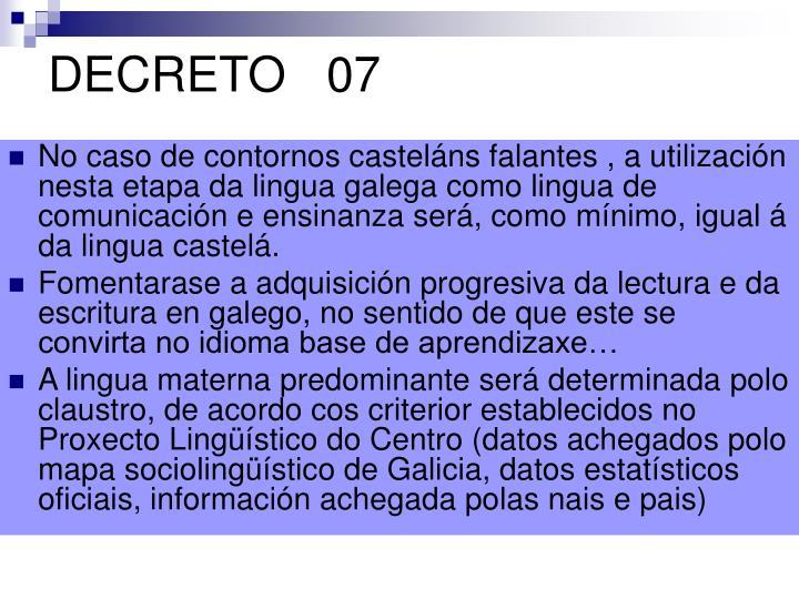 DECRETO   07