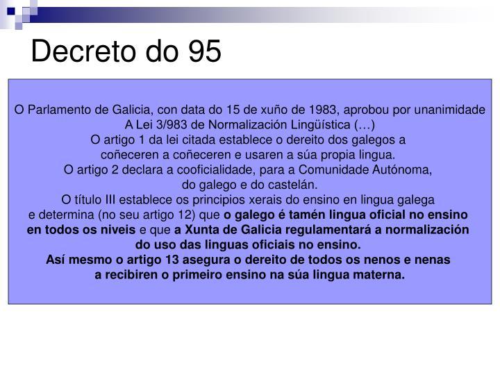Decreto do 95