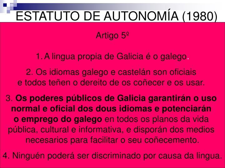ESTATUTO DE AUTONOMÍA (1980)
