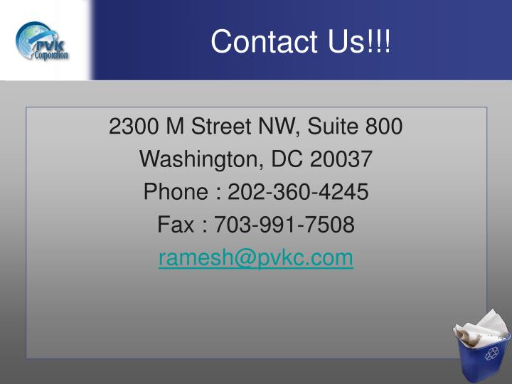 Contact Us!!!
