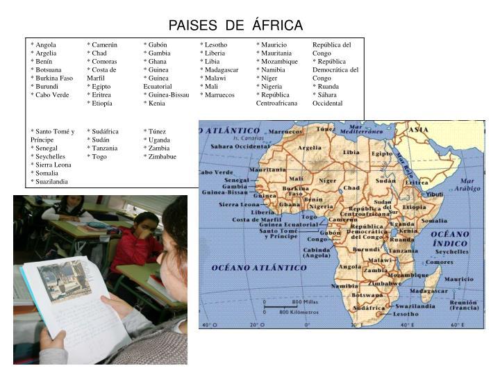 PAISES  DE  ÁFRICA