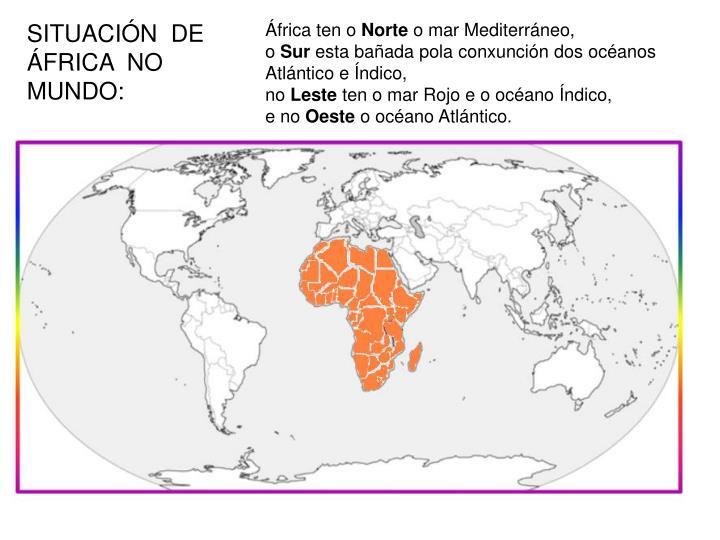 SITUACIÓN  DE  ÁFRICA  NO  MUNDO: