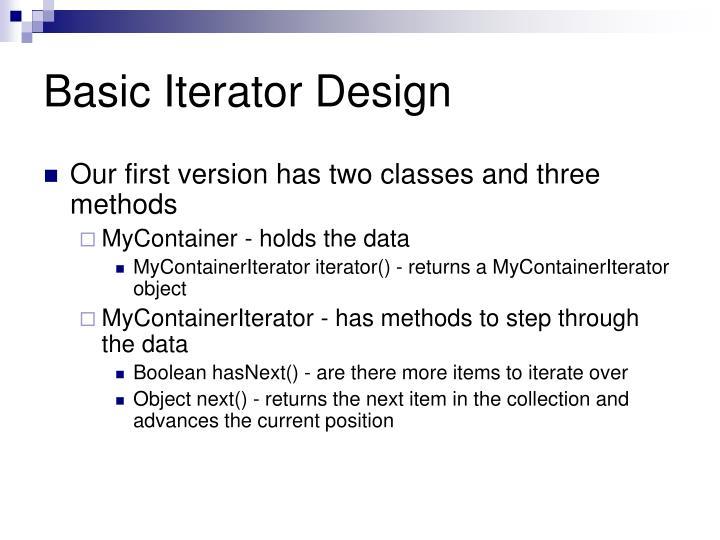Basic Iterator Design