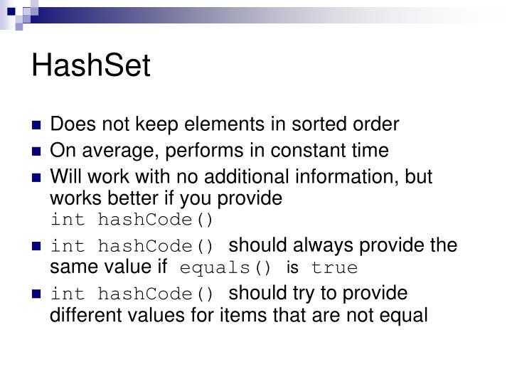 HashSet