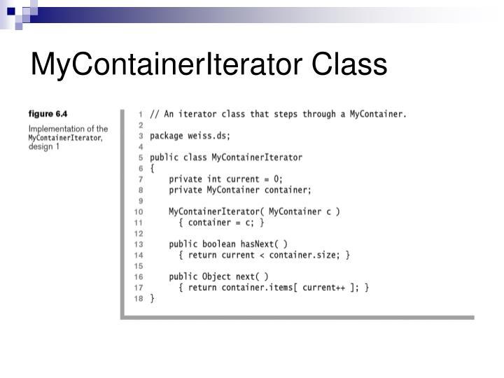 MyContainerIterator Class