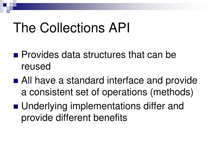 The Collections API