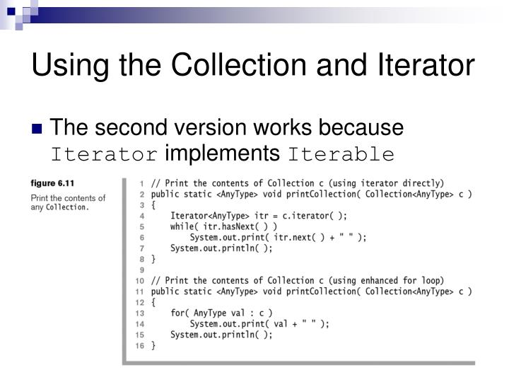 Using the Collection and Iterator