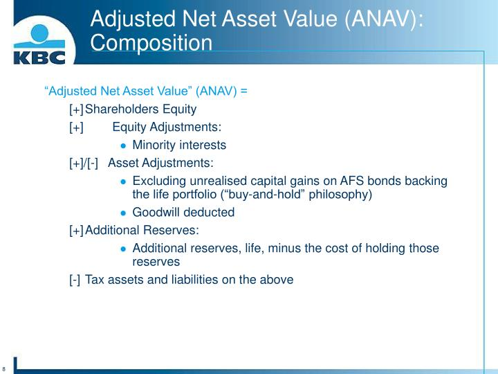 Adjusted Net Asset Value (ANAV): Composition