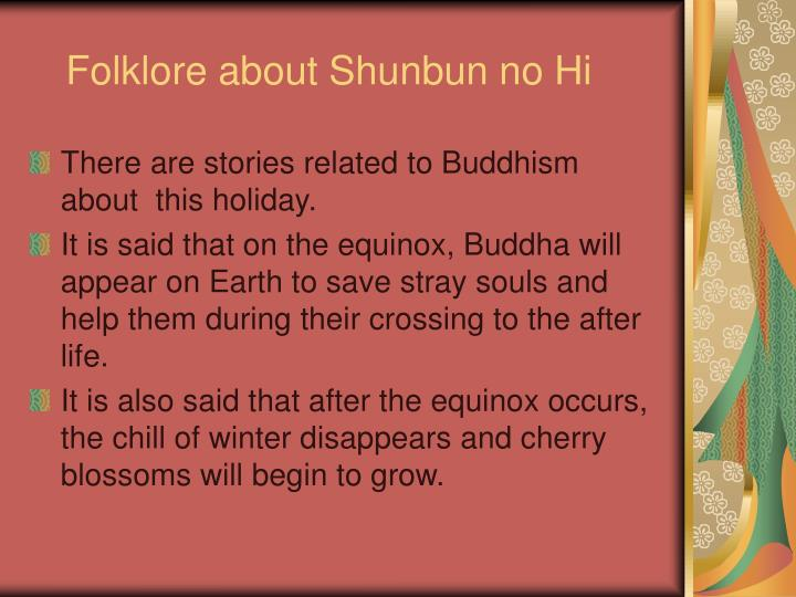 Folklore about Shunbun no Hi