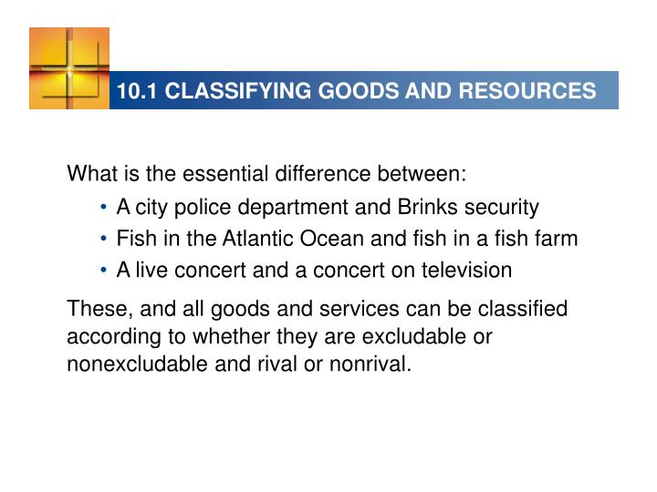 10 1 classifying goods and resources