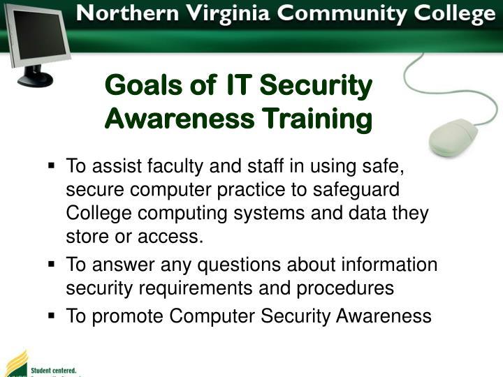 Goals of IT Security Awareness Training