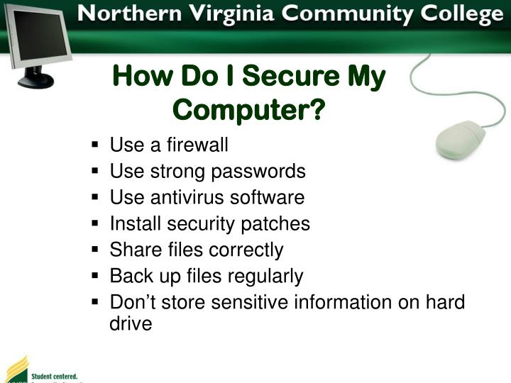 How Do I Secure My Computer?