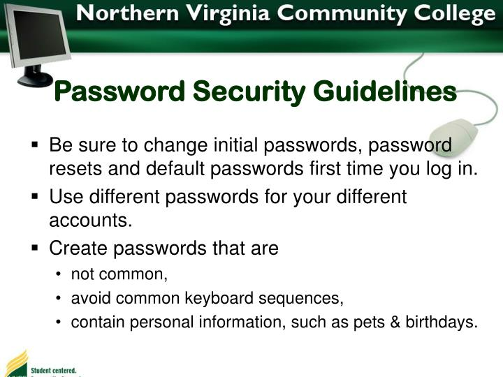 Password Security Guidelines