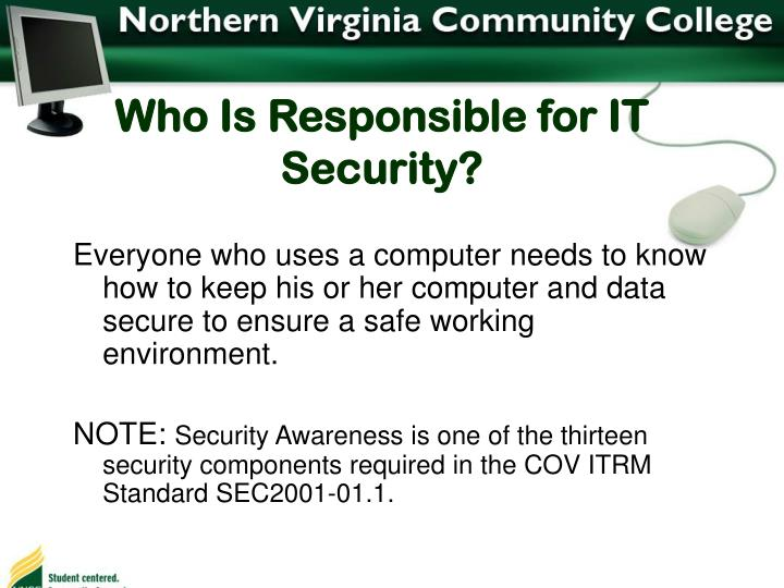 Who Is Responsible for IT Security?